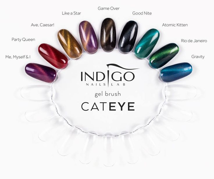 Cat Eye Gel Brush New Autumn Collection #nails #nail #indigo #fall #autumn…