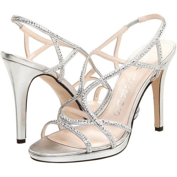 Caparros Zarielle Silver Metallic Sequin Strappy Sandals featuring an Light  Platform Sole and Slim Heel Size - 8 Toe to Heel Width B Heel Platform S