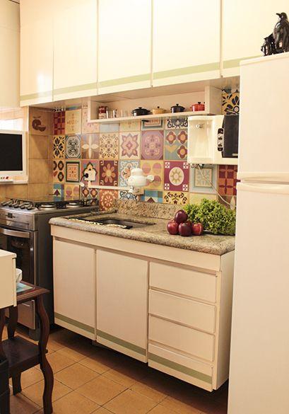 25 melhores ideias sobre azulejos da parede da cozinha no - Azulejo sobre azulejo ...
