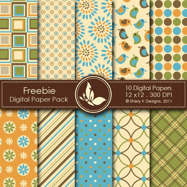 Free Digital Pack 2  This listing is for 10 printable High Quality Digital papers.    Each paper measures 12 x 12 inch, 300 DPI, JPEG format.    Great for scrapbooking, making cards, invitations, tags and photographers.