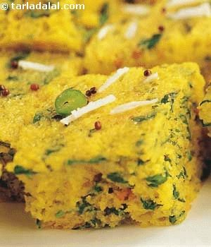 An unusual combination that makes light and flavourful dhoklas.