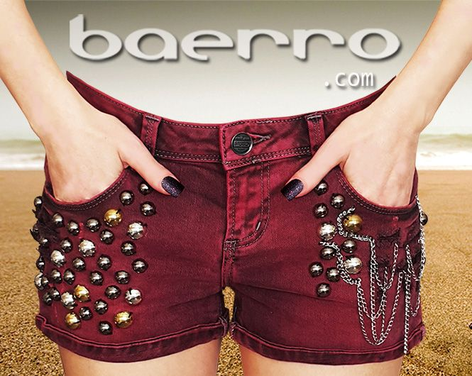 Distressed  women's  straignt fit(mid rise) denim shorts by Baerro. #baerro #FashionTrendandDesignStudio