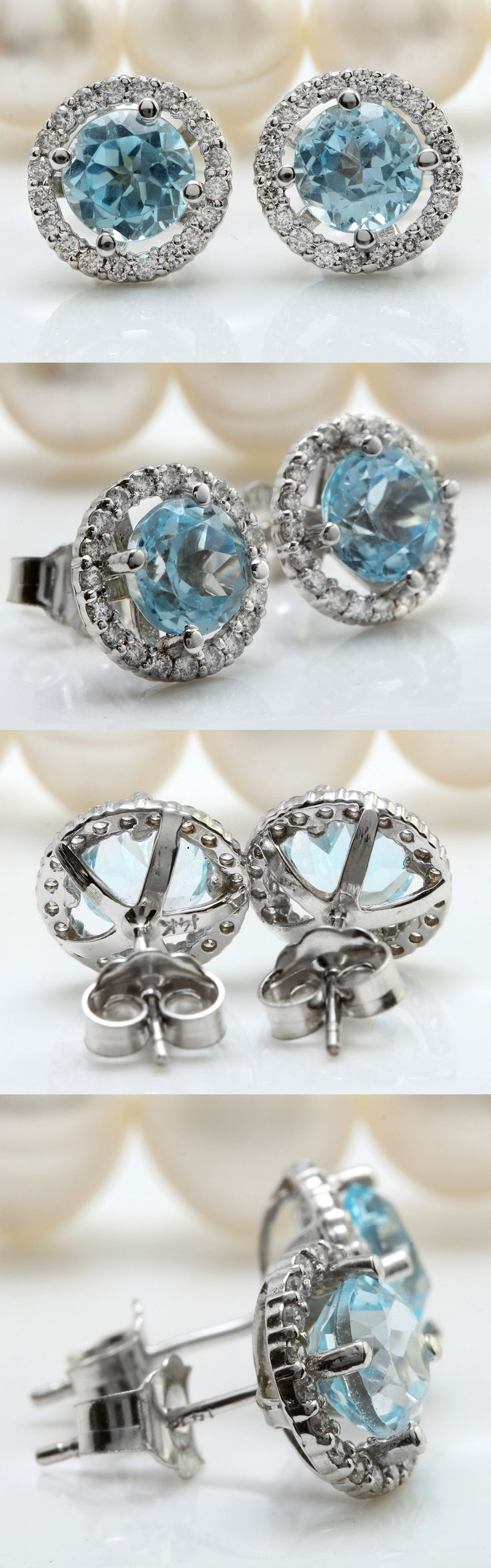 white ring aquamarine engagement cut shape pin natural v birthstone diamond gold rings set pear