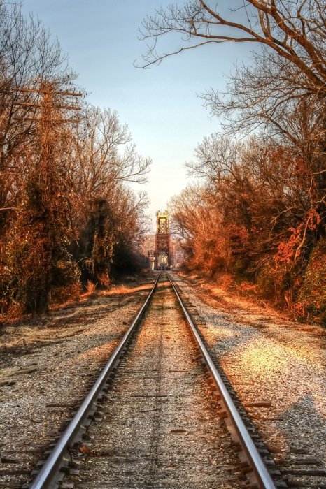 """Train Tracks"" - Karen Seyfried (Fort Smith, AR) #AETN #BeMore"