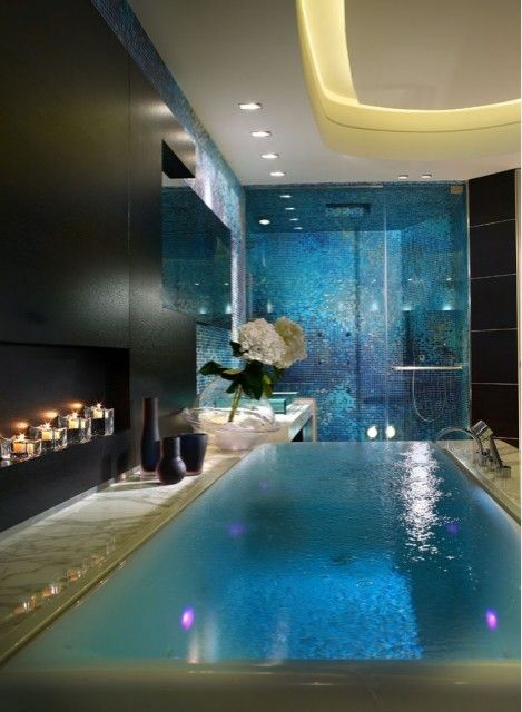 Дизайн ванны: бесконечная ванна