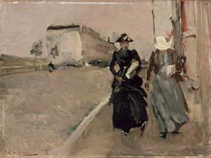 George_breitner_-_gust_of_wind_-_google_art_project