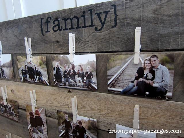 wooden pallet photo display