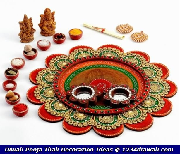 1000 images about diwali decor on pinterest hindus for Aarti thali decoration ideas