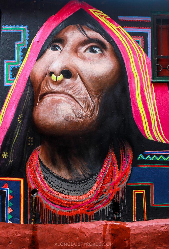 ...street art and bogotá — along dusty roads