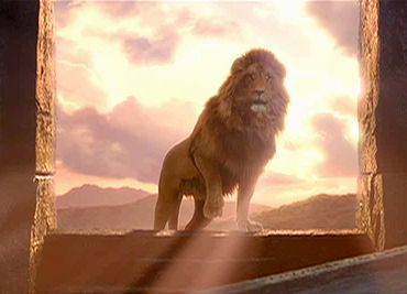 Finally triumphant over the White Witch--Aslan never lost faith that it could be done.