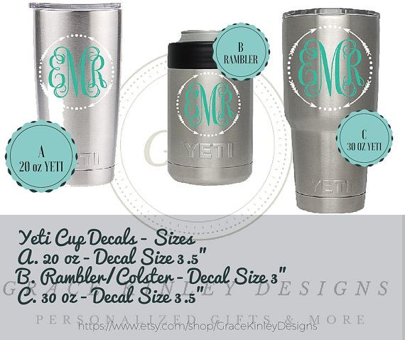17 best images about Yeti decals on Pinterest | Monogram decal, 4 ...