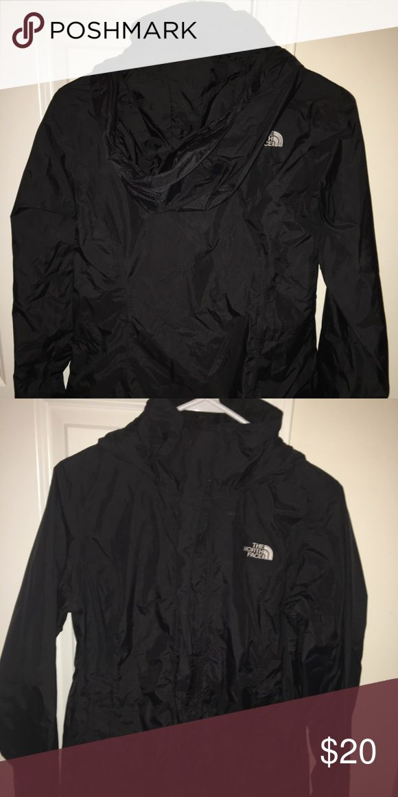 Size small north face women's rain jacket Form fitting and very slimming. Super cute and only worn like twice North Face Jackets & Coats
