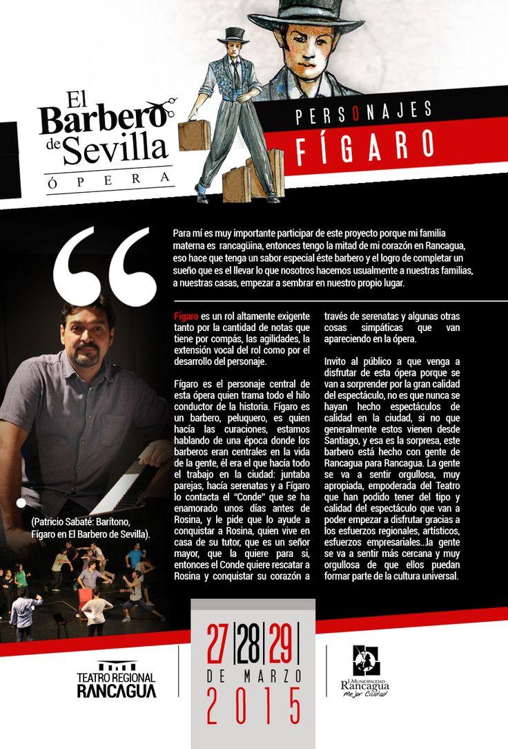 Fígaro, personaje de nuestra obra El Barbero De Sevilla, Rancagua, Chile.