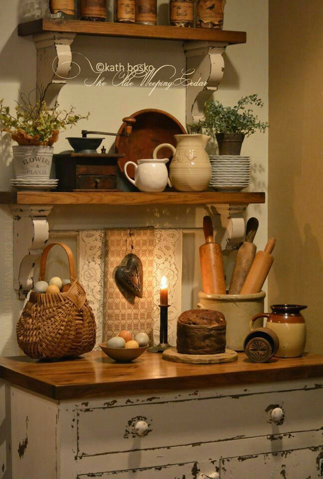 Rustic country redo wood pallet projects pinterest for Country decor for above kitchen cabinets