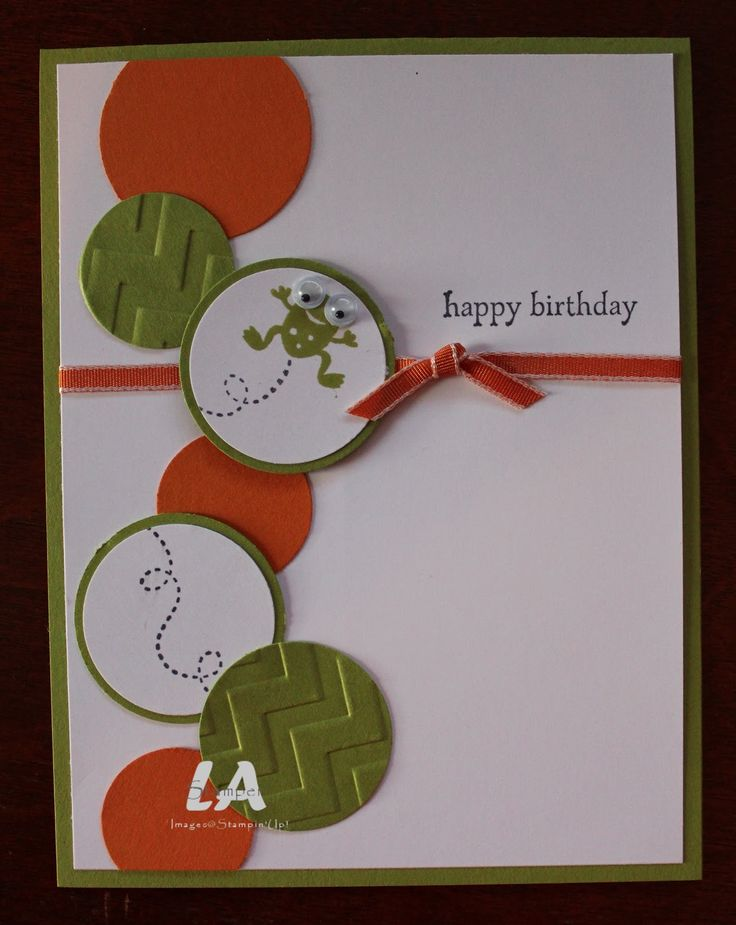 Some circles using a circle cutter and you have a handmade birthday card