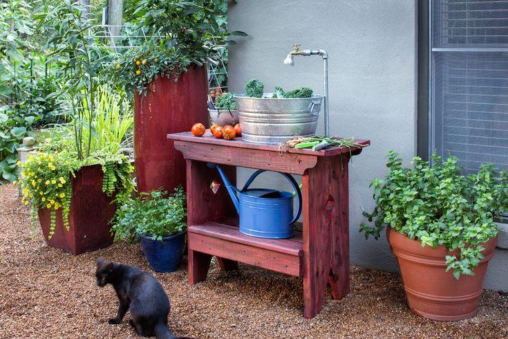 outdoor sink for garden use