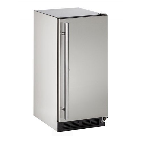 U-Line 15  Outdoor Refrigerator with Lock-Stainless Steel