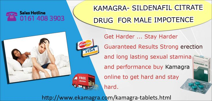 Kamagra 100mg online sildenafil pill which is phosphodiesterase inhibitor, so in case you are allergic to Sildenafil or other phosphodiesterase inhibitors then don't take this medication. Cheap generic Kamagra produced by Ajanta treats male impotence or erectile dysfunction in men. The active Sildenafil citrate content helps make the impotent men a suitable companion for the love-making period.