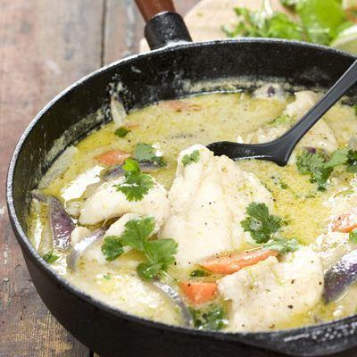 Bild på Pangasius i kokosmjölk och grön curry
