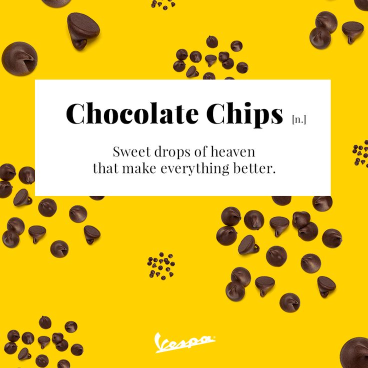 It's the little things that go a long way… | #Vespa #ChocolateChips #Chocolate #tasty #sweet #smile #fun