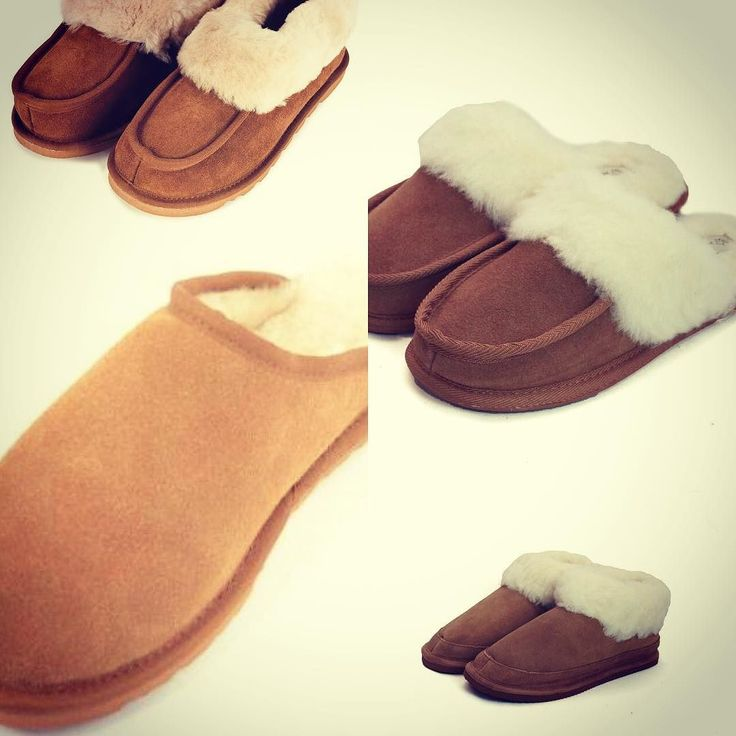 Ladies mule slippers. Genuine sheepskin with wool lining. For more info visit slippers on link in bio  #slippers #slippershoes #mules #wool #sheepskin