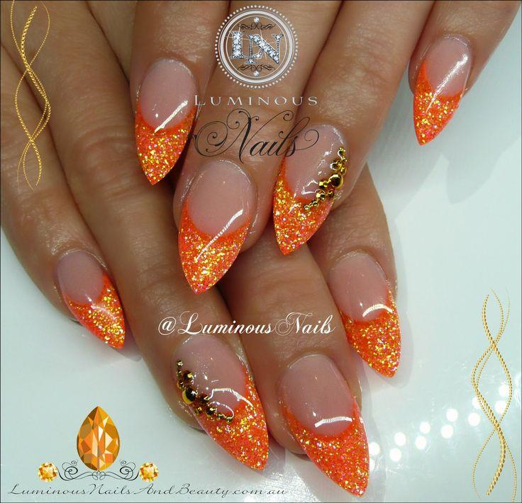 1000+ Ideas About Orange Nail Art On Pinterest