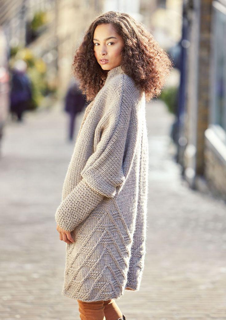 Пальто из толстой пряжи Wilshaw Дизайнер Джорджия Фаррелл из нового журнала Рован 62