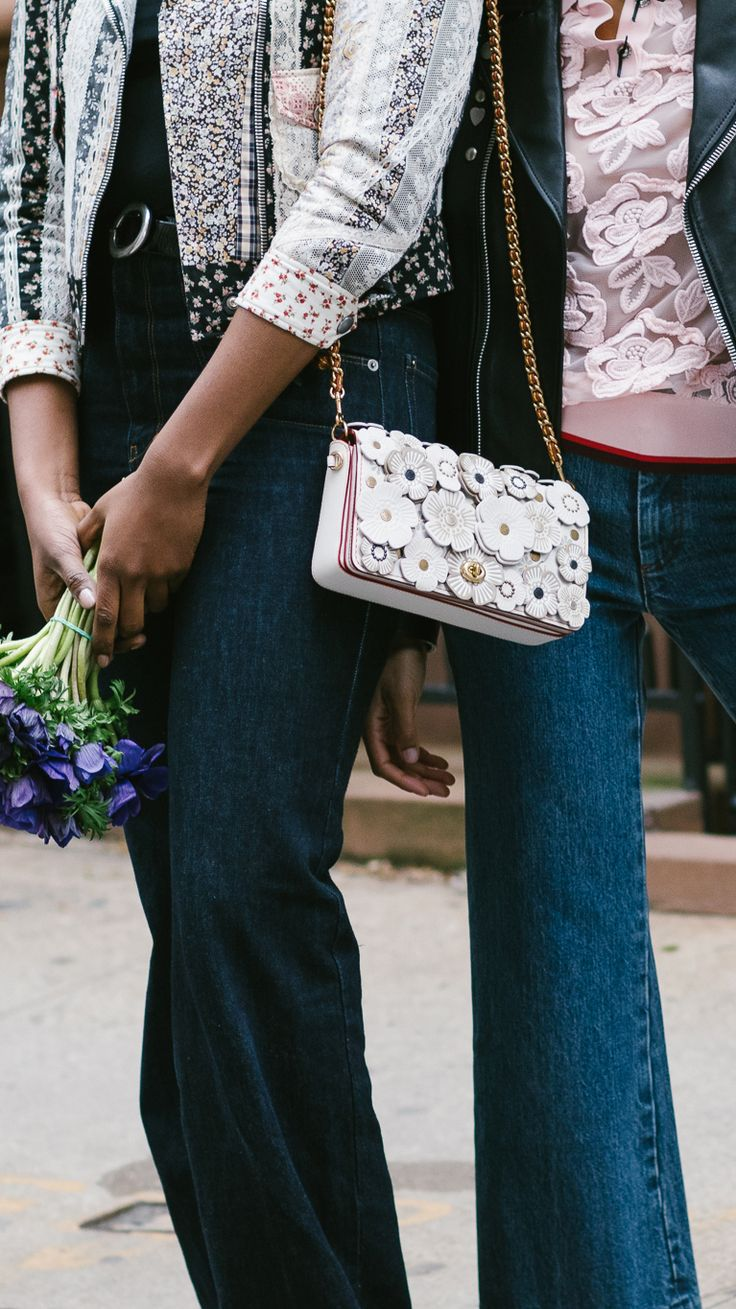 Gabrielle Richardson and Selah Marley hit New York's famous Greenwich Village clad in Coach's Spring 2017 styles.