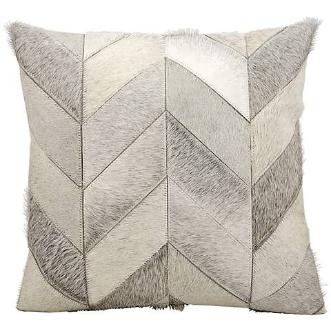 "Kathy Ireland Heritage 20"" Square Gray Pillow - #5K514 