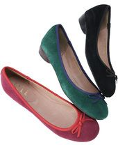 Bow suede flats / ShopStyle(ショップスタイル):リボンスエードバレエシューズ - shopstyle.co.jp