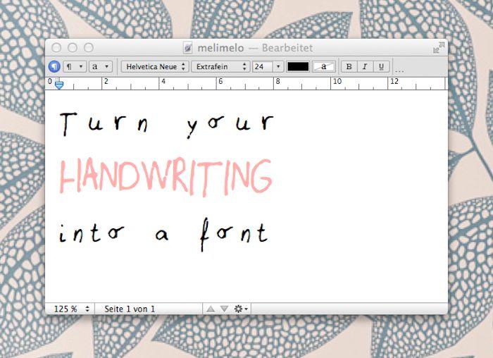 DIY: Macht eine Schriftart aus Eurer Handschrift | DaWanda Blog