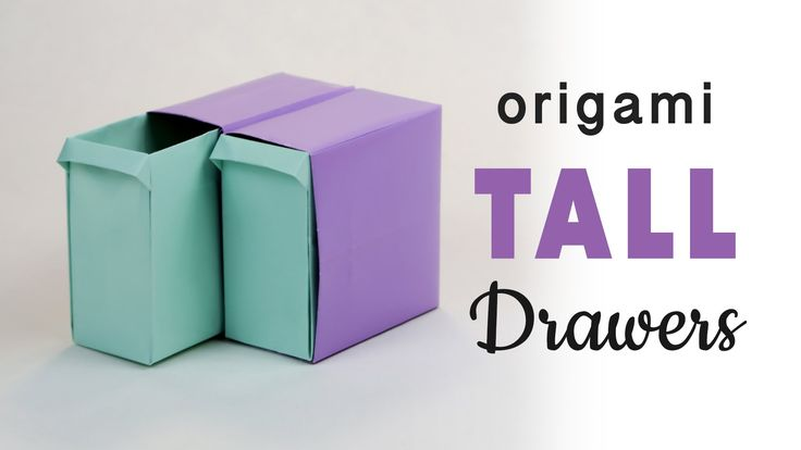 Tall Origami Pull-Out Drawers Tutorial ♥︎