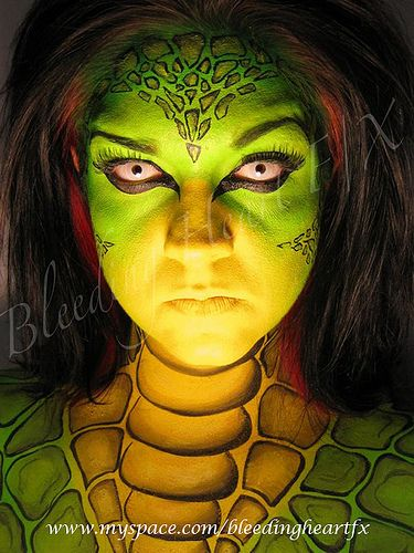 22 best lizard reptile makeup images on pinterest for Airbrush tattoo paint