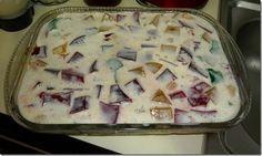 ¿Gusta Usted? : Deliciosa Gelatina Mosaico con queso crema. Receta...