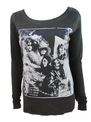 Camiseta Gendreau  Camiseta manga larga en color gris oscuro desgastado. Imagen en la parte delantera. Detalle tachuelas plateadas en los hombros.