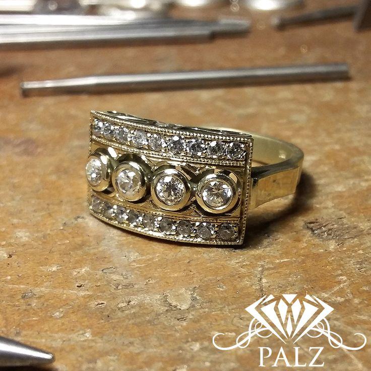 18 kt Gold vintage ring
