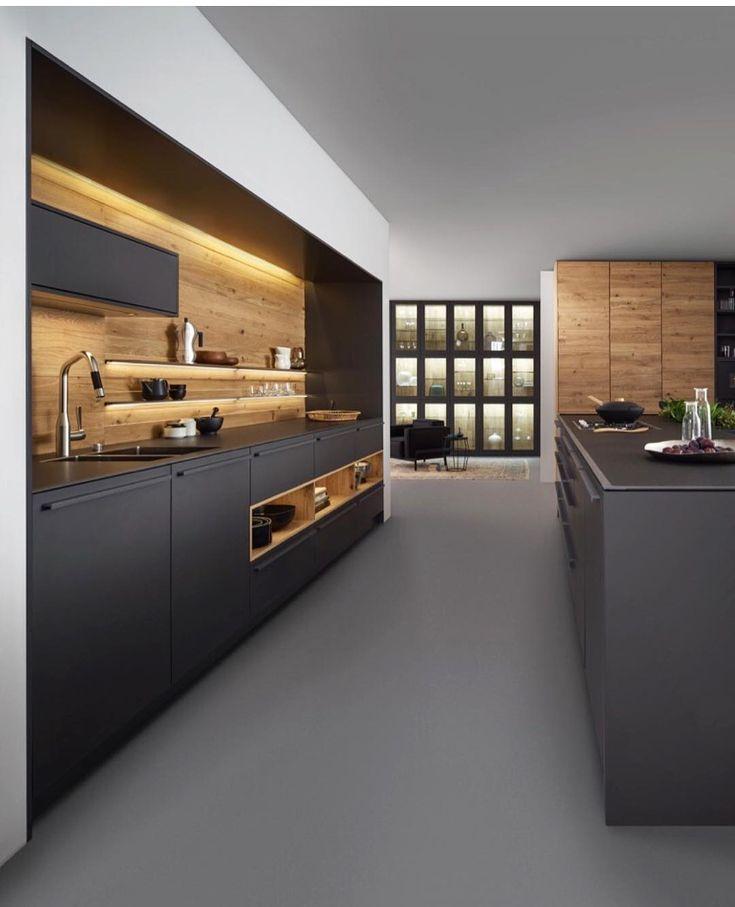 Clarissa Schneider: Cozinha Bondi | Valais, da Leicht, com nova lâmina de madeira natural. Projeto de uma casa na Dinamarca. ...