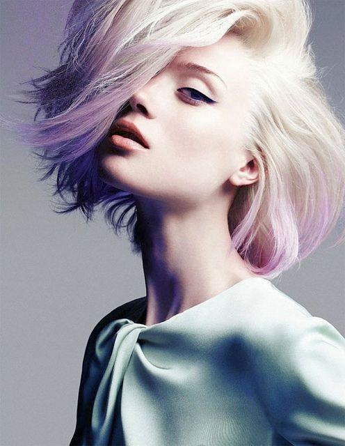 purple tips,this is so pretty#hair