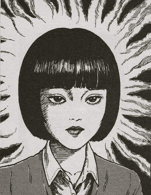 junji ito lady suit stare expression novel comic japan japanese horror