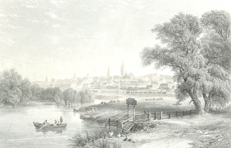 Melbourne from the Yarra, Victoria 1873