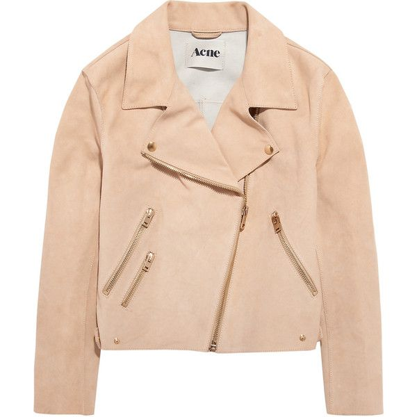Acne Rita suede aviator jacket ($1,055) ❤ liked on Polyvore
