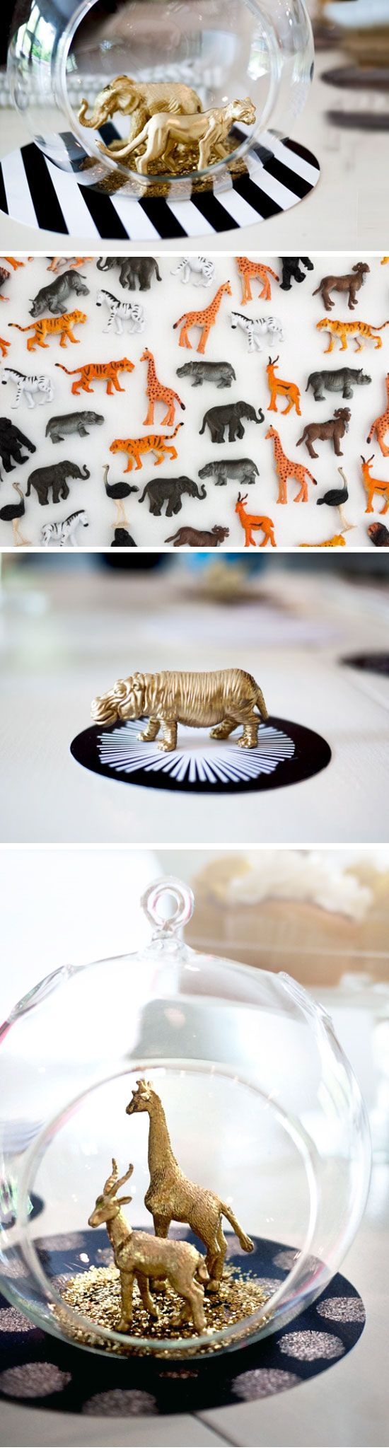 Diy gold toy animal globes click pick for 23 last minute for Last minute party ideas