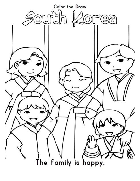 esl coloring pages family traditions - photo#3