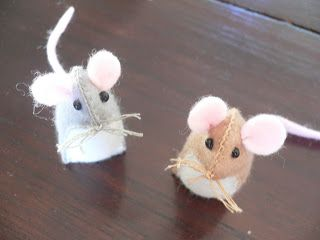 Cute and easy mouse tutorial for felt mouse