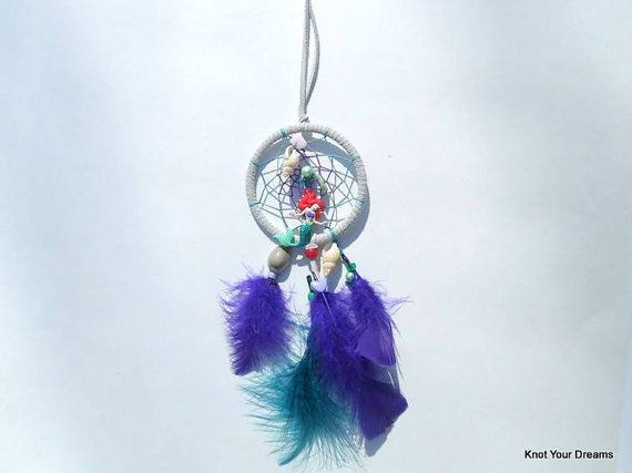 Ariel car dream catcher by KnotYourDreams on Etsy