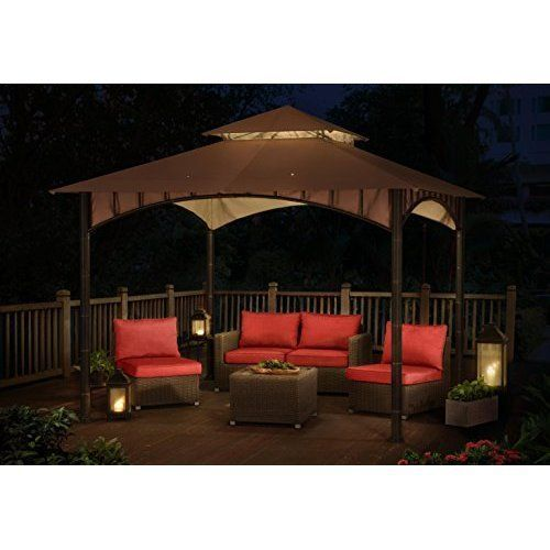 10 x 10 Top Gazebo Tent Steel Frame Outdoor Party For Patio Table Furniture Sets