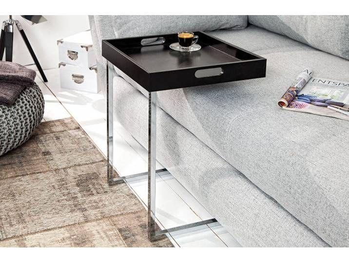 Design Beistelltisch Ciano 40cm Schwarz Chrom Tablett Tisch Home Appliances Home Decor Furniture