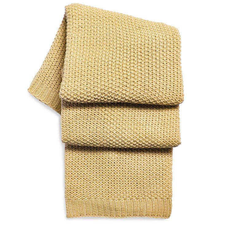 Rayna Grey & Mustard Yellow Stripe Woven Throw | Departments | DIY at…
