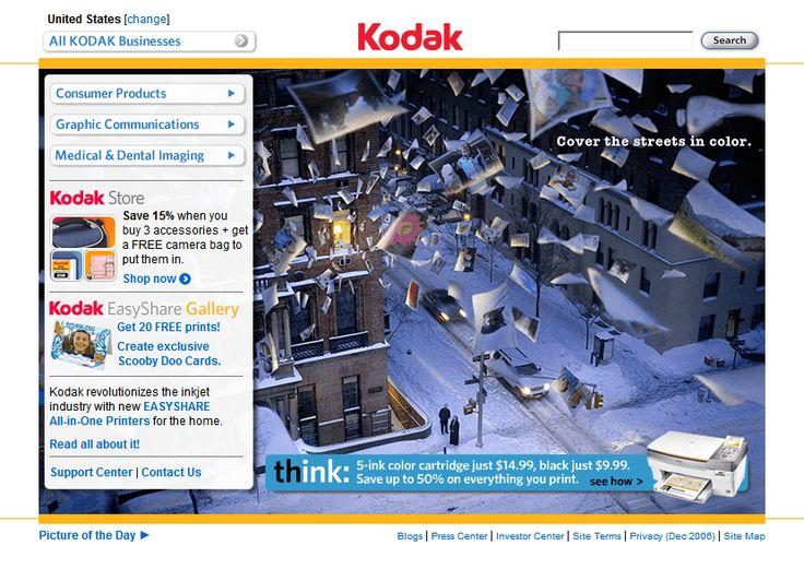 Kodak website in 2007