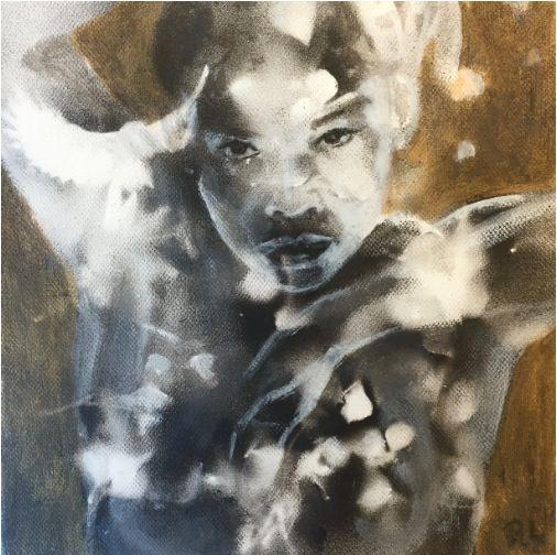 #ildfuglen#20x20#acrylic,alkyd#canvas#danskdanseteater#rithva.dk